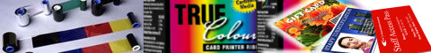 Ribbons, card printing, full colour, monochrome, true colours, zebra, javelin, fargo, ribbons for card printers, pvc cards, plastic cards, id cards, color